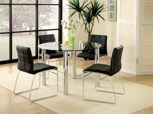 Kona I - Round Dining Table - Chrome