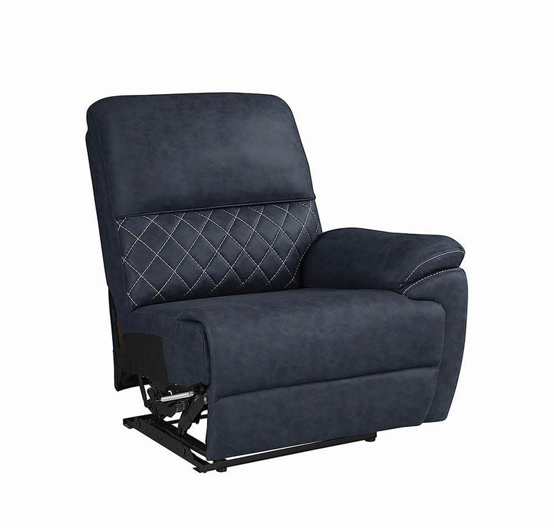 Variel Motion Collection - Blue - Raf Recliner