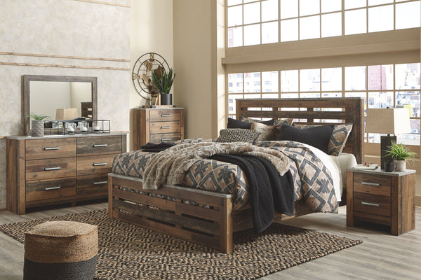 Chadbrook - Brown - 5 Pc. - Dresser, Mirror & King Panel Bed