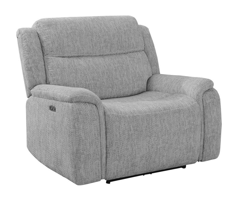 Grey - Wagner Power^2 Recliner With Power Headrest Light Grey