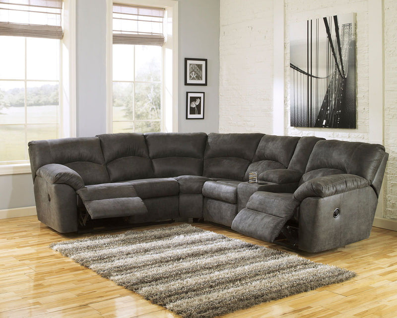 Tambo - Pewter - RAF Reclining Loveseat