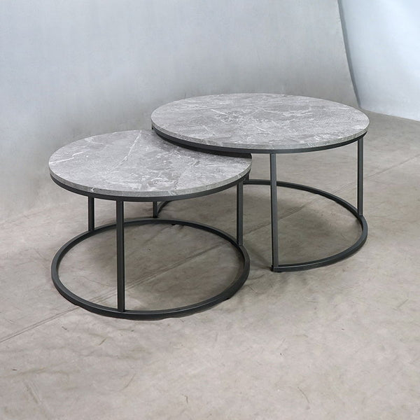 Grey Faux Marble - 2 Pc Nesting Coffee Table