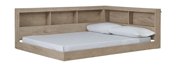 Oliah - Natural - Full Bookcase Storage Bed