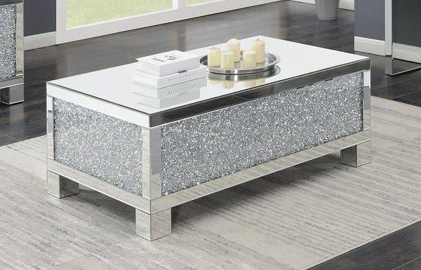 Rectangular Coffee Table Clear Mirror