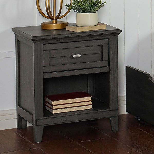 Brogan - Night Stand - Gray