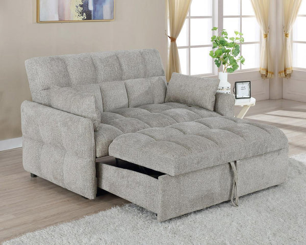 Beige - Cotswold Tufted Cushion Sleeper Sofa Bed Beige
