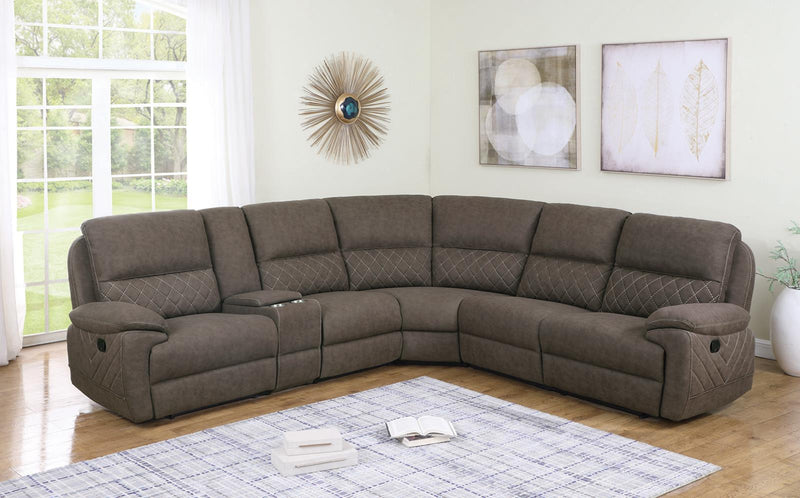 Variel Motion Collection - Taupe - Variel 6-piece Modular Motion Sectional Taupe