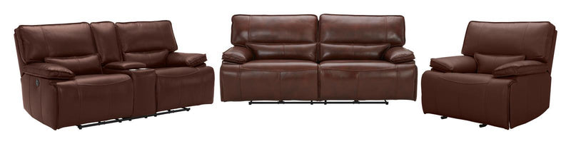 Saddle Brown - Southwick Pillow Top Arm Power Glider Recliner Saddle Brown