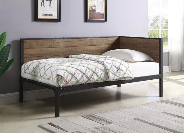 Getler Daybed - Getler Daybed Weathered Chestnut And Black