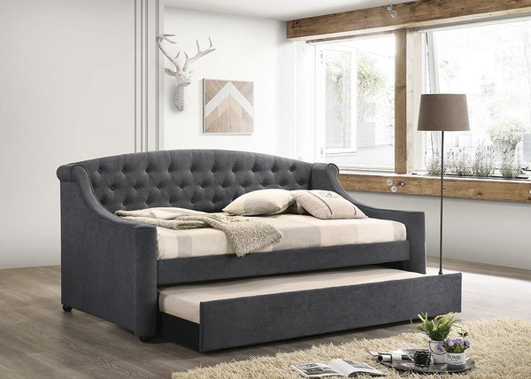Penfield Daybed - Light Grey - Penfield Twin Upholstered Daybed With Trundle Grey