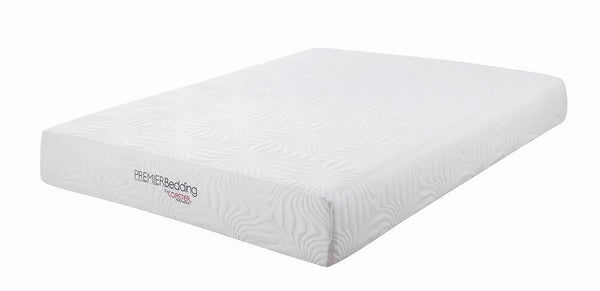 "Key 10"" Mattress - White - Key Eastern King Memory Foam Mattress White"
