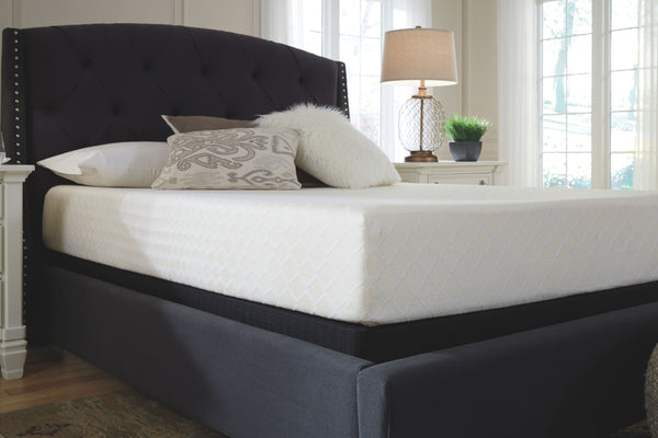 10 Inch Chime Memory Foam - White - California King Mattress & Foundation (2 RQD)