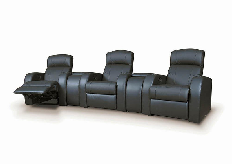 Cyrus Home Theater Collection - Black - Cyrus Home Theater Upholstered Console Black