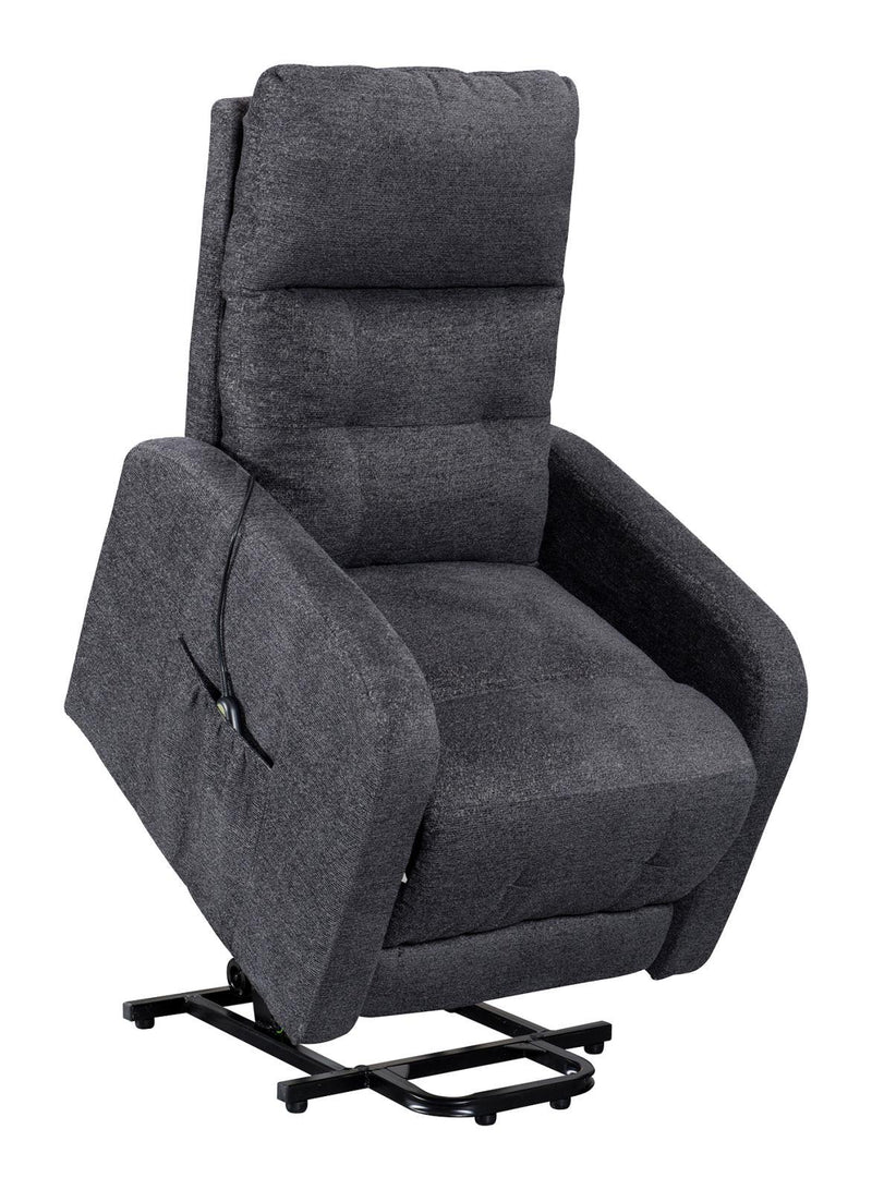 Charcoal - Tufted Upholstered Power Lift Recliner Charcoal