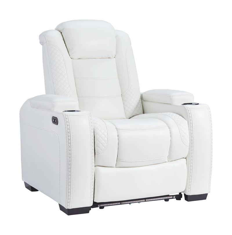 Party Time - White - PWR Recliner/ADJ Headrest
