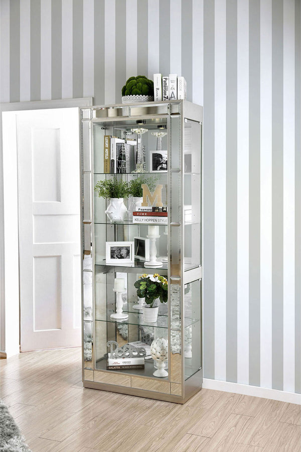 Carrollton - Curio Cabinet - Chrome