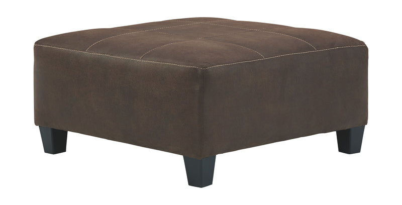 Navi - Chestnut - Oversized Accent Ottoman