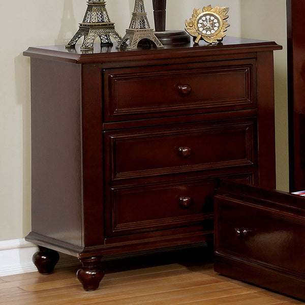 Olivia - Night Stand - Dark Walnut
