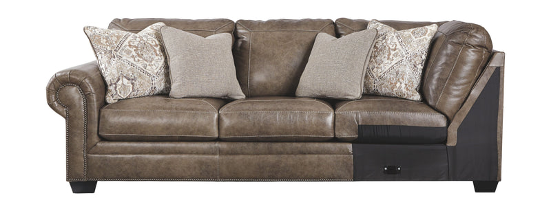 Roleson - Quarry - LAF Sofa w/Corner Wedge