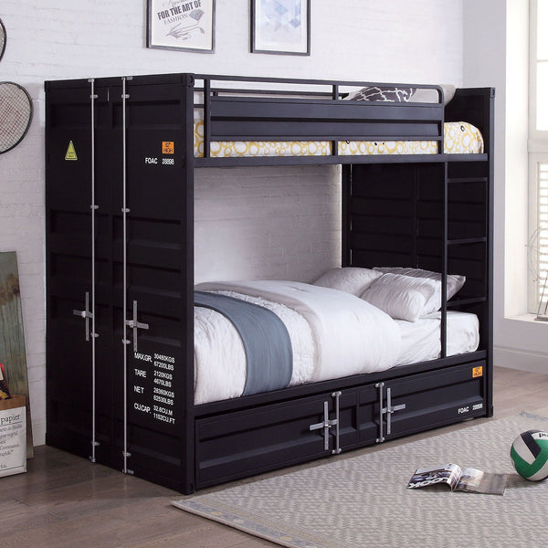 Estonne - Twin/Twin Bunk Bed - Black