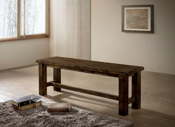 Kristen - Bench - Rustic Oak