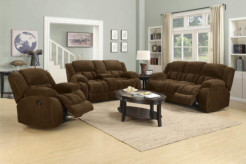 Weissman Motion Collection - Chocolate - Weissman Pillow Top Arm Motion Sofa Chocolate