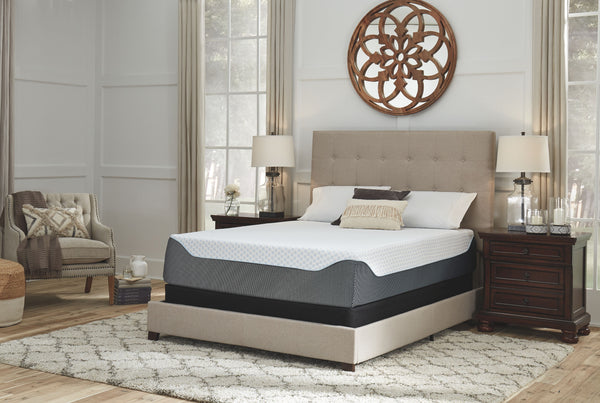 14 Inch Chime Elite - White/Blue - California King Mattress & Foundation (2 RQD)