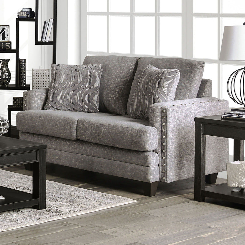 Emelie - Loveseat - Light Gray