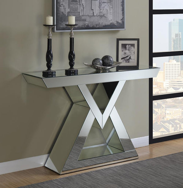 Console Table With Triangle Base Clear Mirror