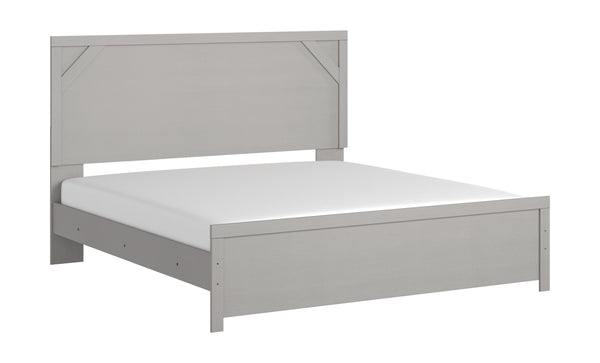 Cottenburg - Light Gray/White - King Panel Headboard/Footboard