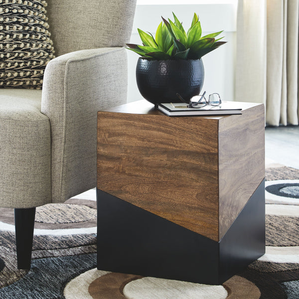 Trailbend - Brown/Gunmetal - Accent Table