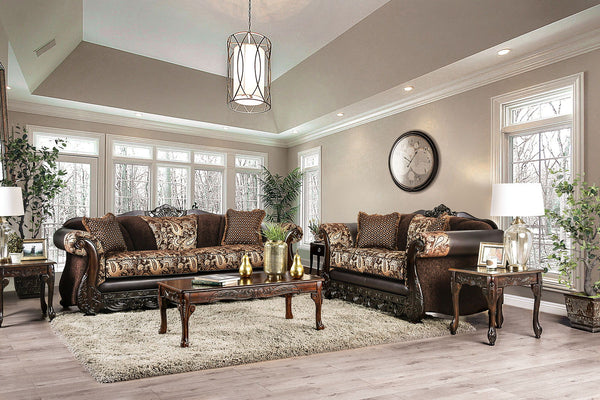 NEWDALE - Sofa + Loveseat - Brown