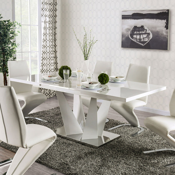 Zain - Dining Table - White