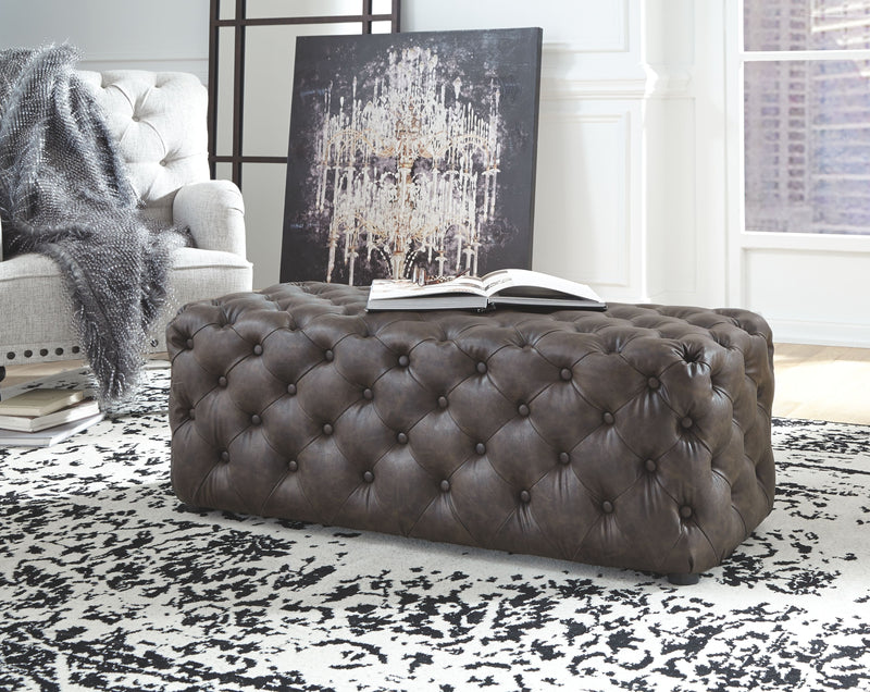 Lister - Brown - Accent Ottoman