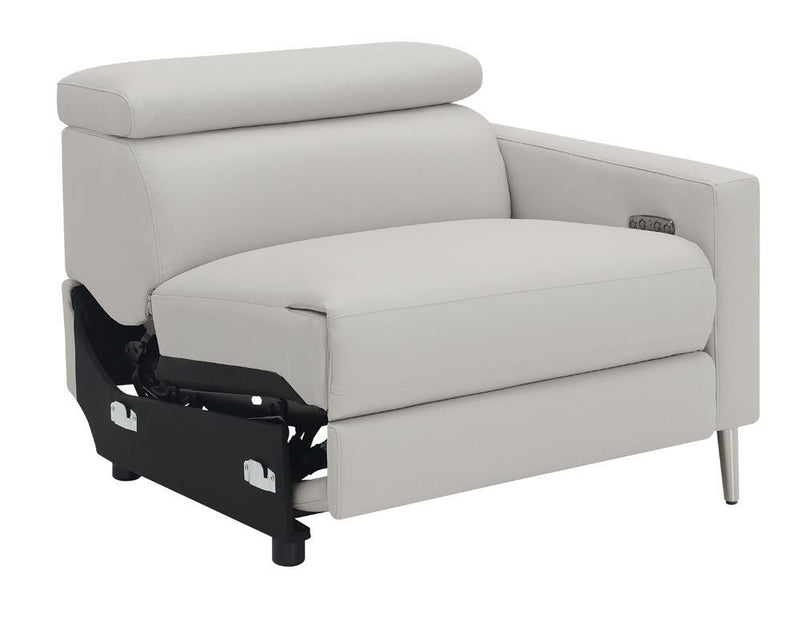 Beryl Motion Collection - Light Grey - Raf Power2 Recliner
