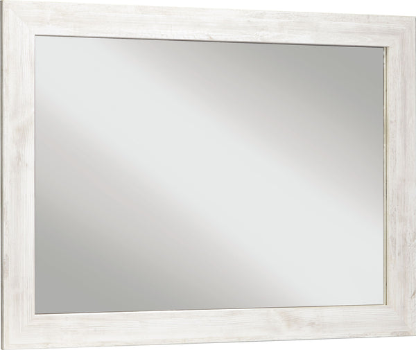 Paxberry - Whitewash - Bedroom Mirror