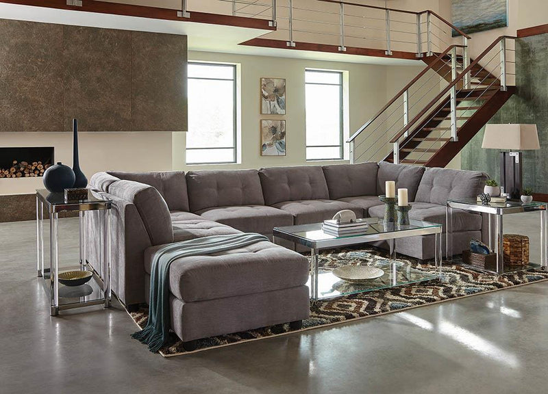 Claude Sectional - Dove - Claude Tufted Cushion Back Corner Dove