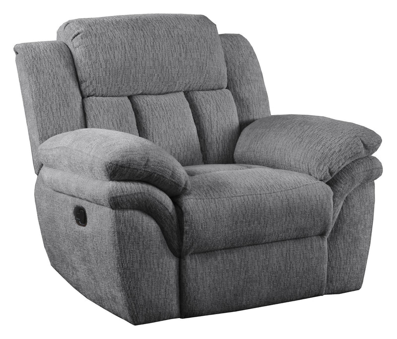Charcoal - Bahrain Upholstered Glider Recliner Charcoal