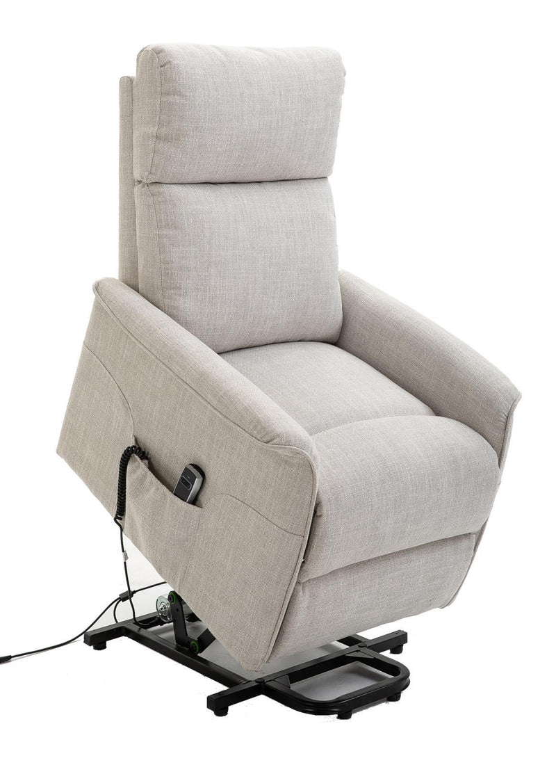 Beige - Power Lift Recliner With Wired Remote Beige