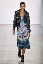 Load image into Gallery viewer, Nicole Miller Embellished Crown Leather Moto Jacket