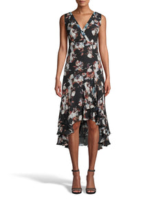 Nicole Miller Baroque Silk Sleeveless Dress
