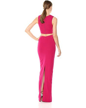 Load image into Gallery viewer, Nicole Miller Structured Heavy Jersey Tie Front Gown