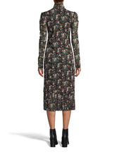 Load image into Gallery viewer, Nicole Miller Printed Mesh Midi Dress
