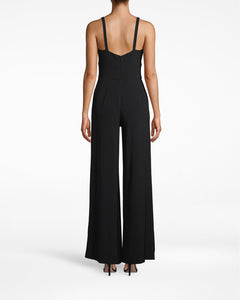 Nicole Miller Satin Back Crepe Molly Jumpsuit