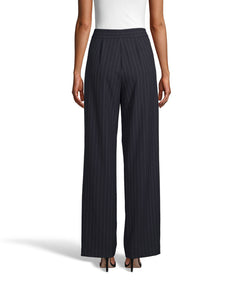 Nicole Miller Pinstripe Pleated Front Trouser