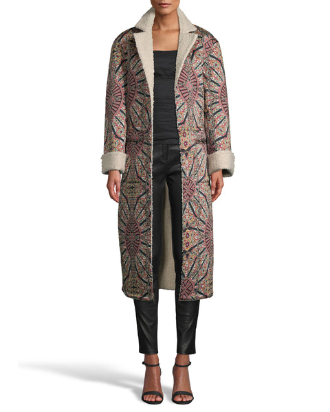 Nicole Miller Labyrinth Reversible Coat