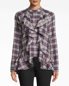 Nicole Miller Downtown Ruffle Front Blouse