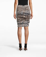 Load image into Gallery viewer, Nicole Miller NYC Leopard Techno Metal Sandy Skirt