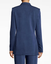 Load image into Gallery viewer, Nicole Miller Satin Back Crepe Boyfriend Jacket