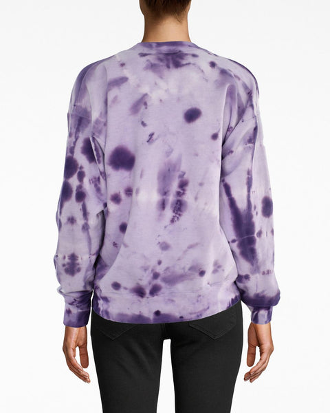 Nicole Miller Stronger Together Purple Embroidered Sweatshirt